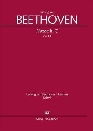 Messe en Ut Opus 86 - BEETHOVEN - Partition - laflutedepan.com