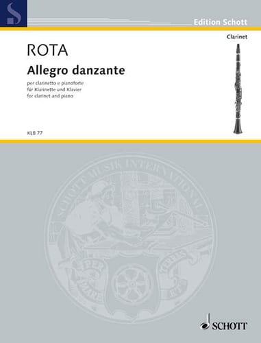 Allegro Danzante - ROTA - Partition - Clarinette - laflutedepan.com