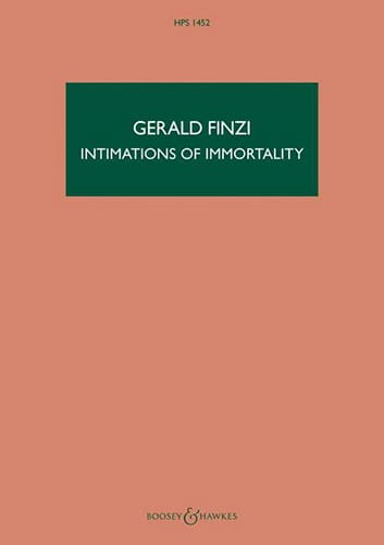Intimations Of Immortality Op. 29 - Gerald Finzi - laflutedepan.com