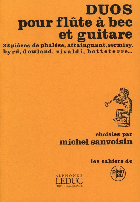 Duos pour flûte à bec et guitare - Partition - laflutedepan.com