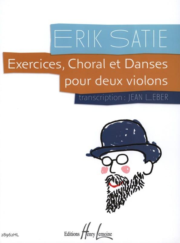 Exercices, Choral et Danses - SATIE - Partition - 0 - laflutedepan.com