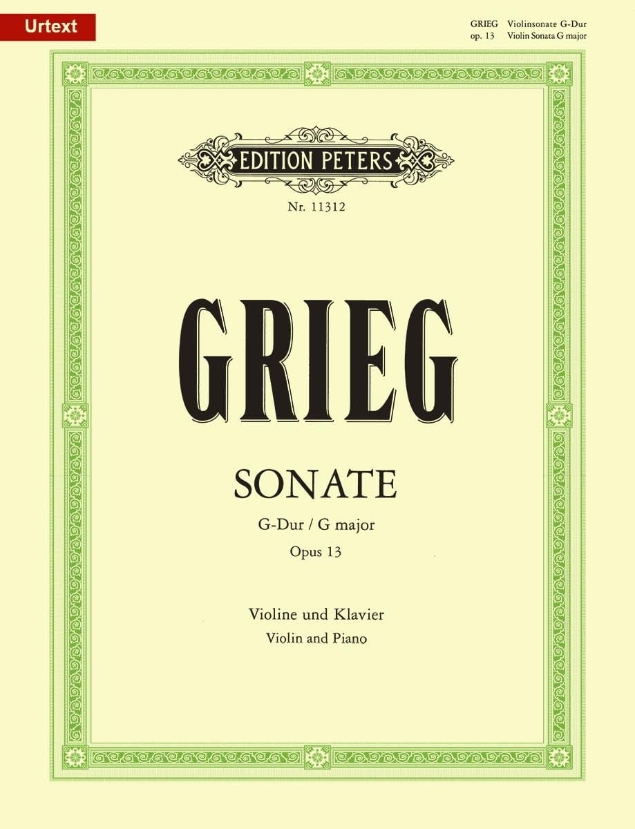 Edvard Grieg - Sonata in G Major Opus 13 - Partition - di-arezzo.co.uk