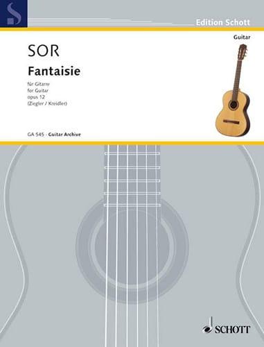 Fantaisie Opus 12 - SOR - Partition - Guitare - laflutedepan.com