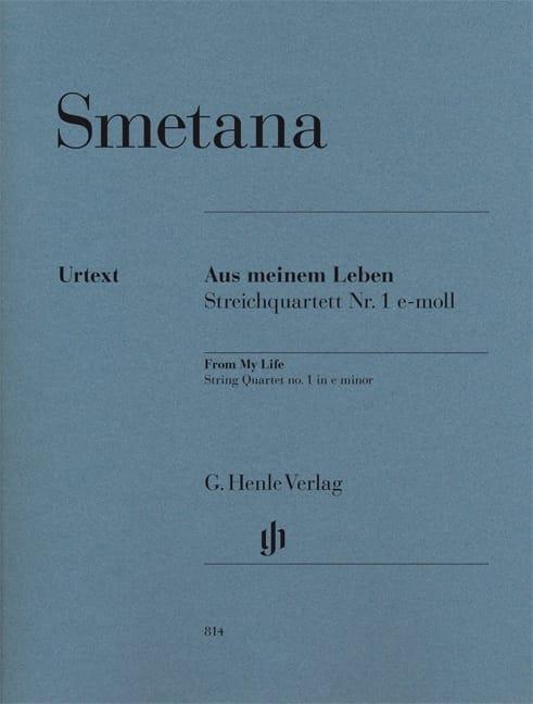 "Bedrich Smetana - String quartet No. 1 E minor ""Of my life"" - Partition - di-arezzo.co.uk"