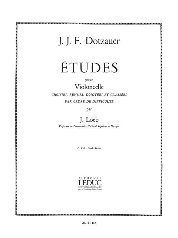 Friedrich Dotzauer - Studies for cello - Volume 1 - Partition - di-arezzo.co.uk
