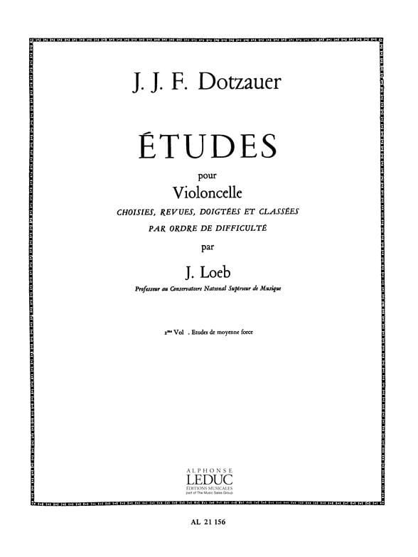 Friedrich Dotzauer - Studies for Cello - Volume 2 - Partition - di-arezzo.com