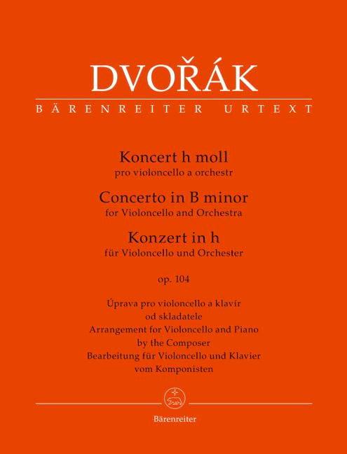 DVORAK - Cello Concerto in B Minor. Opus 104 - Partition - di-arezzo.com
