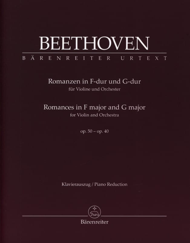 BEETHOVEN - Romances en Fa mayor Op. 50 y Sol mayor Op. 40 - Partition - di-arezzo.es