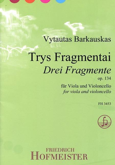 3 Fragmente Op.134 - Vytautas Barkauskas - laflutedepan.com
