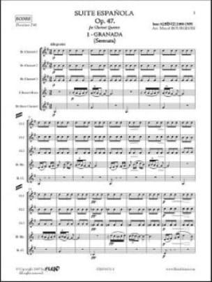 Suite Espagnole Op 47 N° 1 - Granada - ALBENIZ - laflutedepan.com