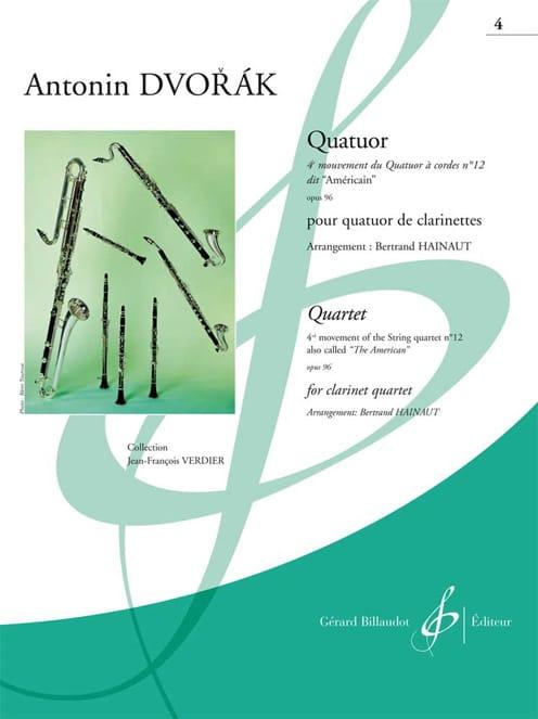 DVORAK - 4th Movement of the American Quartet N ° 12 Op. 96 - Partition - di-arezzo.co.uk