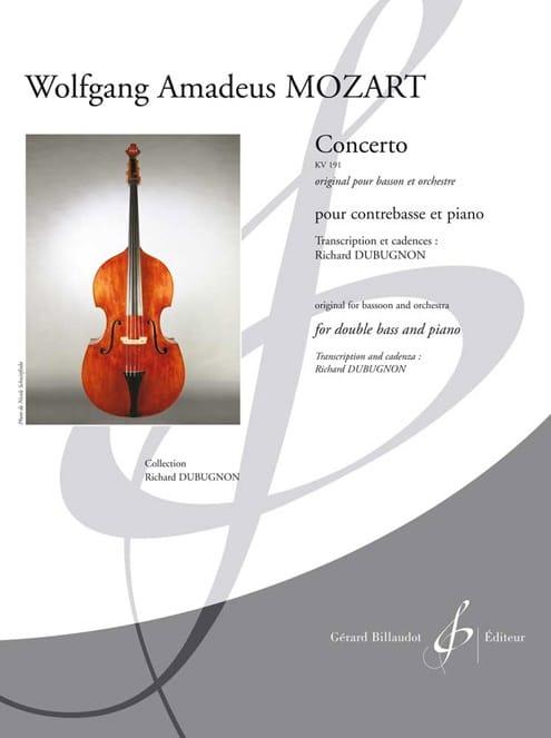 MOZART - Concerto Kv 191 - Double Bass and Piano - Partition - di-arezzo.co.uk