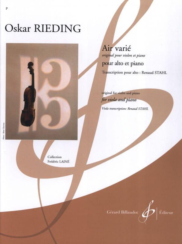 Oskar Rieding - Varied Air - Alto and Piano - Partition - di-arezzo.com