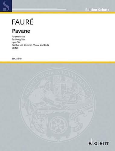 Pavane Opus 50 - FAURÉ - Partition - Trios - laflutedepan.com