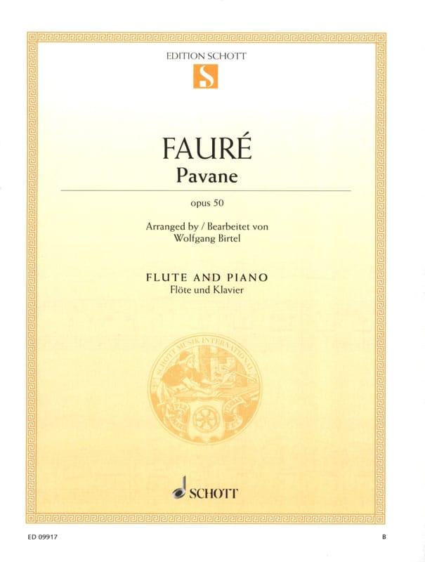 Gabriel Fauré - Pavane Op. 50 - Flute - Partition - di-arezzo.co.uk