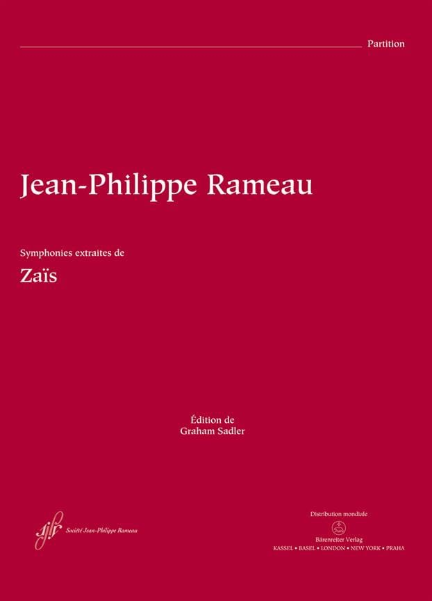 Jean-Philippe Rameau - Symphonies Extraites de Zaïs - Partition - di-arezzo.fr