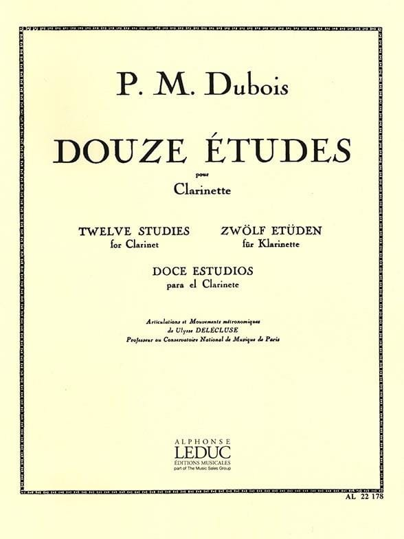 Pierre-Max Dubois - 12 Etudes - Clarinet - Partition - di-arezzo.co.uk