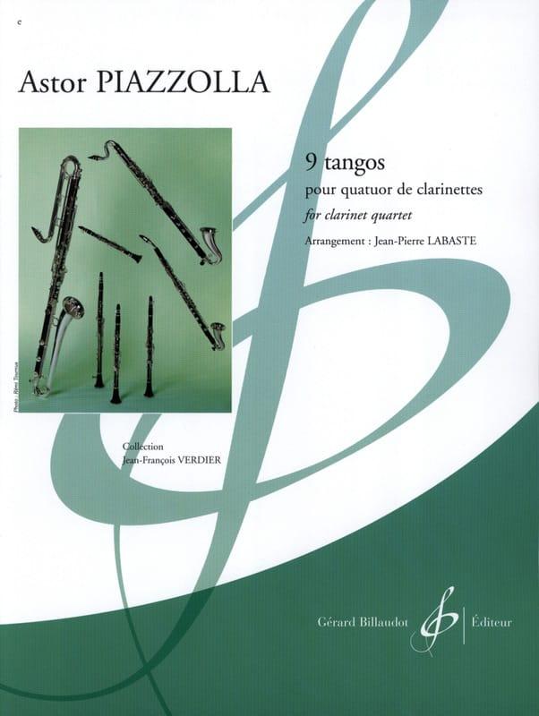 9 Tangos - Astor Piazzolla - Partition - Clarinette - laflutedepan.com