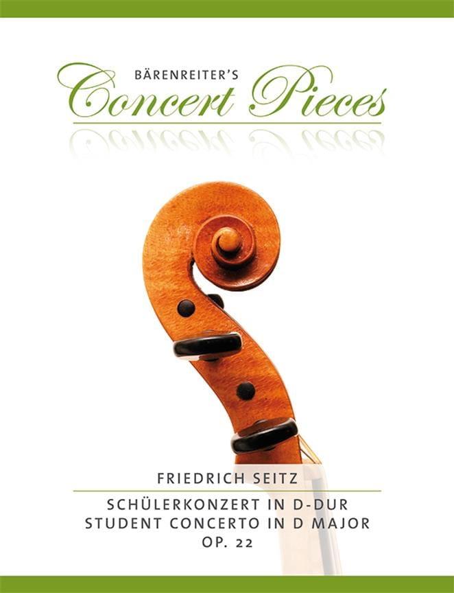 Friedrich Seitz - Schülerkonzert In D Major Op. 22 - Partition - di-arezzo.com