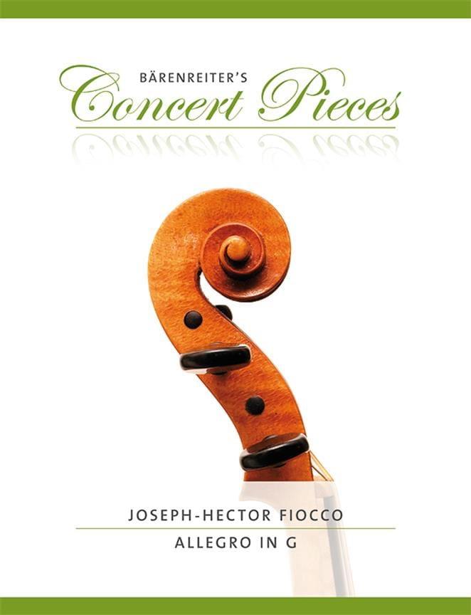Allegro en Sol - Joseph Hector Fiocco - Partition - laflutedepan.com