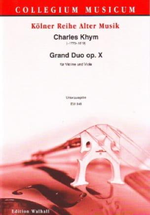 Grand Duo Op.10 - Charles Khym - Partition - 0 - laflutedepan.com