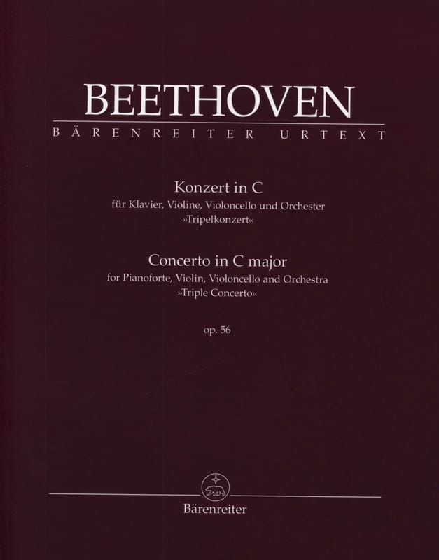 BEETHOVEN - Concierto en Do mayor para Piano, Violín y Violonchelo y Orch. Op. 56 - Partition - di-arezzo.es
