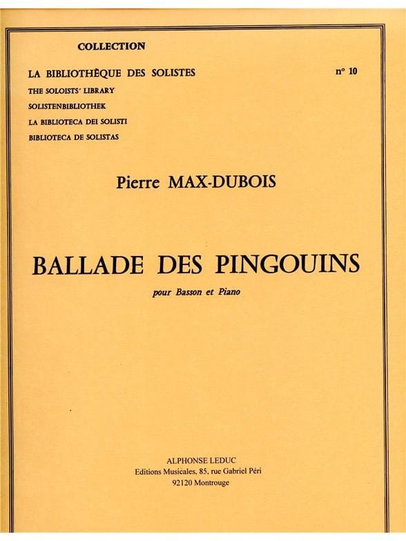 Ballade des Pingouins - Pierre-Max Dubois - laflutedepan.com