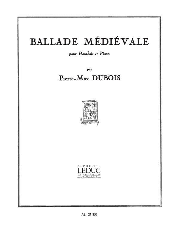 Ballade médiévale - Pierre-Max Dubois - Partition - laflutedepan.com