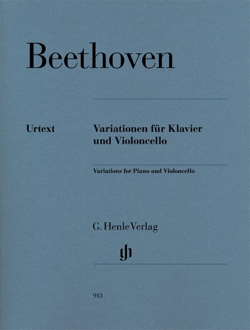 BEETHOVEN - Variations For Cello And Piano - Partition - di-arezzo.co.uk