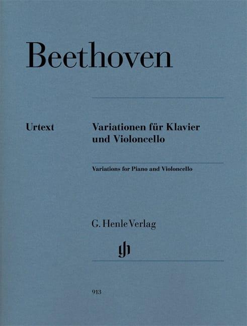 BEETHOVEN - Variations Pour Violoncelle et Piano - Partition - di-arezzo.fr
