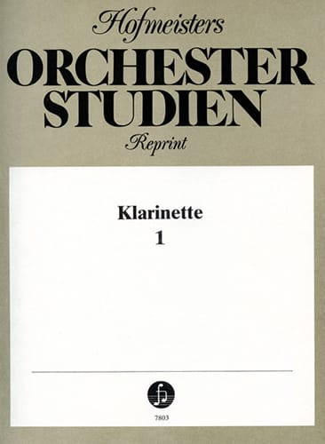 Orchester Studien - Klarinette Volume 1 - laflutedepan.com