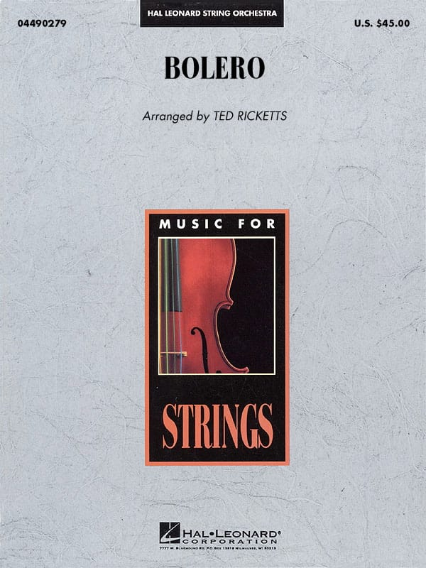 Bolero - Score & Parts - RAVEL - Partition - laflutedepan.com