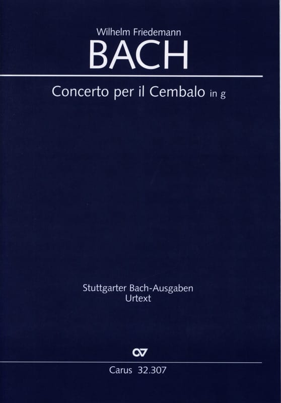Concerto pour Clavecin et Cordes, en Sol Mineur - laflutedepan.com