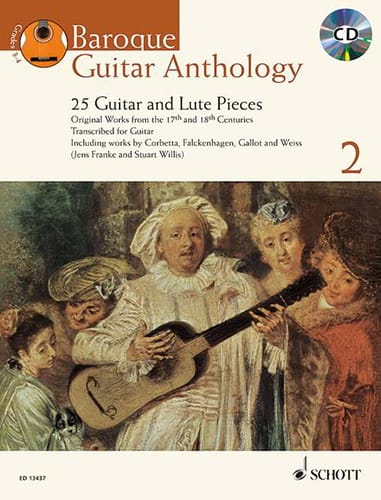 Baroque Guitar Anthology Vol.2 - Partition - laflutedepan.com