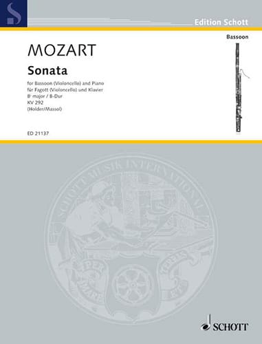 MOZART - Sonata in Bb Major Kv 292 - Partition - di-arezzo.com