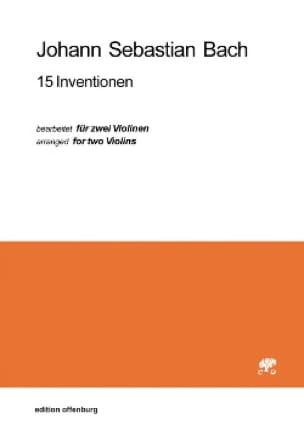 BACH - 15 Inventions - Partition - di-arezzo.com