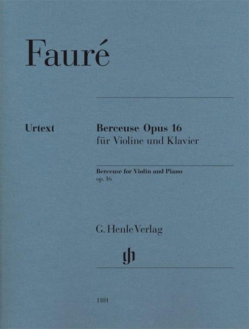 Gabriel Fauré - Lullaby Op.16 - Partition - di-arezzo.co.uk