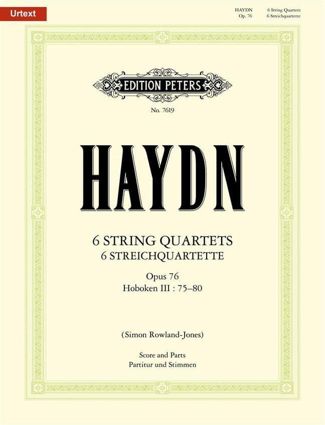 String Quartets Op.76 - Hob.3 75-80 - HAYDN - laflutedepan.com