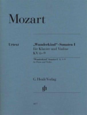 Sonates Wunderkind Volume 1 Pour Piano et Violon K. 6-9 - laflutedepan.com