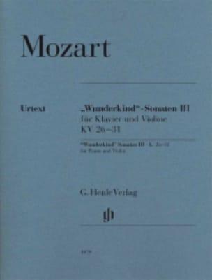 Sonates Wunderkind Volume 3 Pour Piano et Violon K. 26-31 - laflutedepan.com
