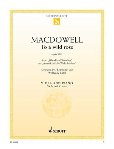 To A Wild Rose Opus 51 N°1 - Alto et Piano - laflutedepan.com
