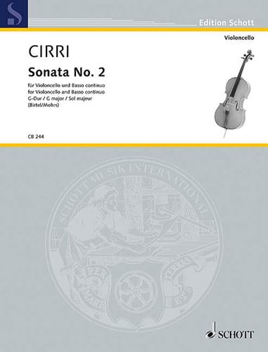 Giambattista Cirri - Sonata N ° 2 in G Major - Partition - di-arezzo.com