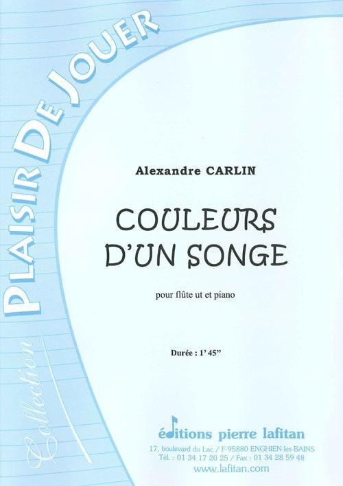 Alexandre Carlin - Colors of a Dream - Partition - di-arezzo.co.uk