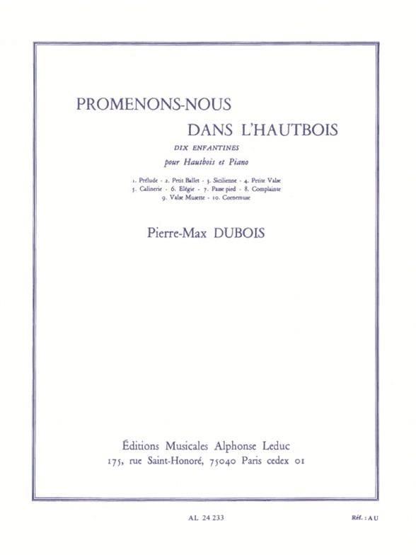 Promenons-nous dans L'Hautbois - Pierre-Max Dubois - laflutedepan.com
