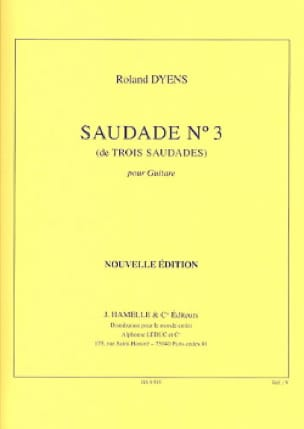 Roland Dyens - Saudade N ° 3 - Partition - di-arezzo.co.uk