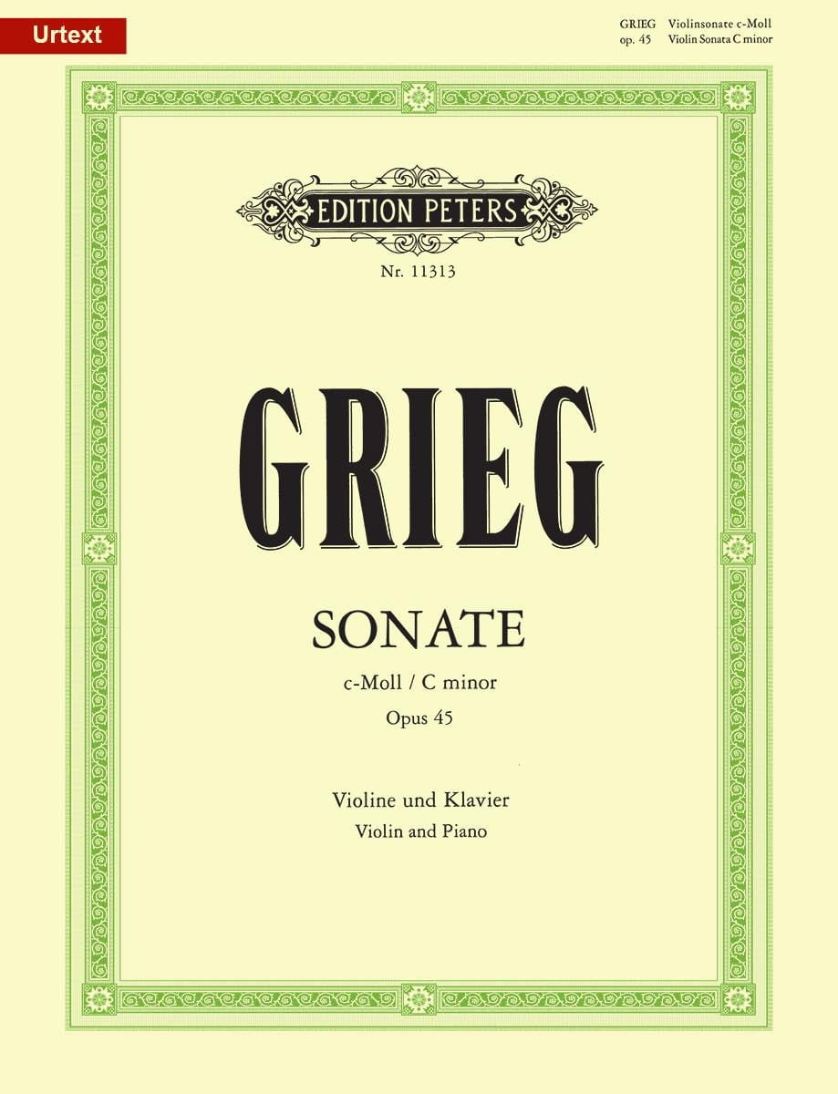 Edvard Grieg - Sonata in C Minor Opus 45 - Partition - di-arezzo.co.uk