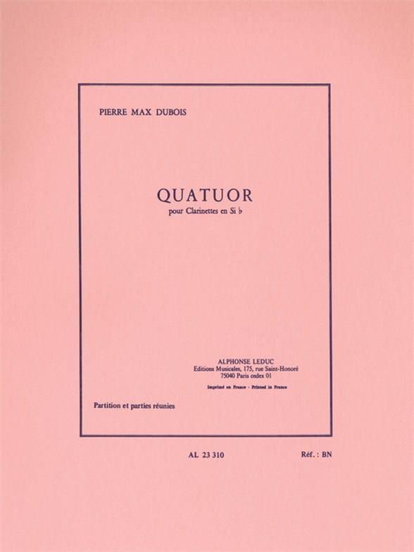 Quatuor - Clarinettes - Pierre-Max Dubois - laflutedepan.com