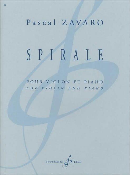 Spirale - Pascal Zavaro - Partition - Violon - laflutedepan.com