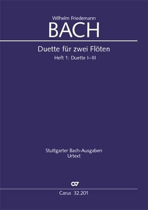 Wilhelm Friedemann Bach - Duos for Flutes Volume 1 - Partition - di-arezzo.co.uk