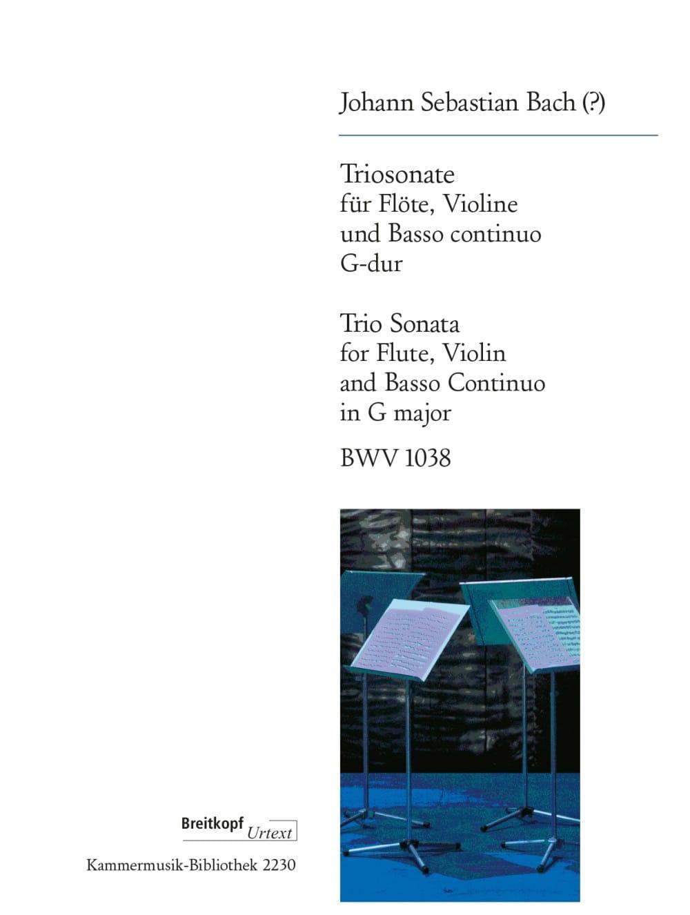 Trio Sonate en Sol Majeur BWV 1038 - BACH - laflutedepan.com